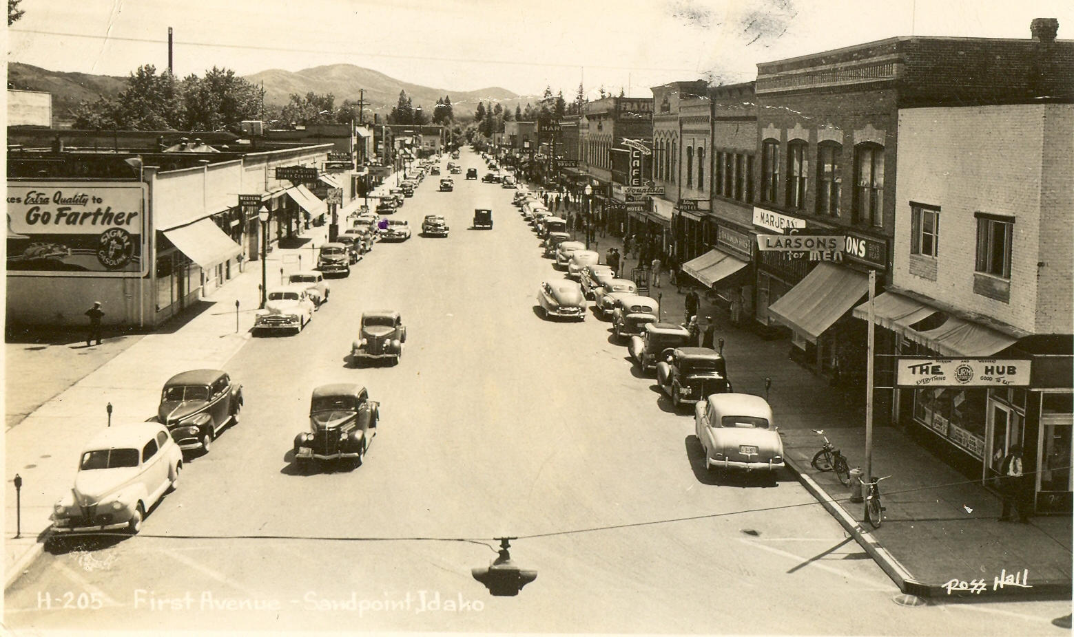 Sandpoint 1st Avenue in 1957