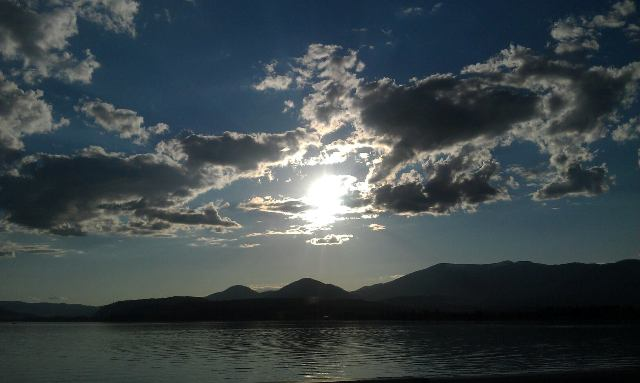 Lake Pend Oreille early Sunset-1